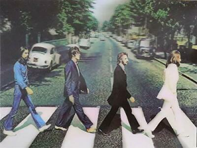 AU20.91 • Buy BEATTLES Abbey Road 3D Poster 3D Lenticular Poster - 12x16 Print