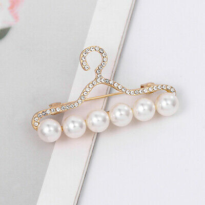Wedding Party Clothes Hanger Pin Brooch Safety Corsage Wedding Dress Decors • 3.25£