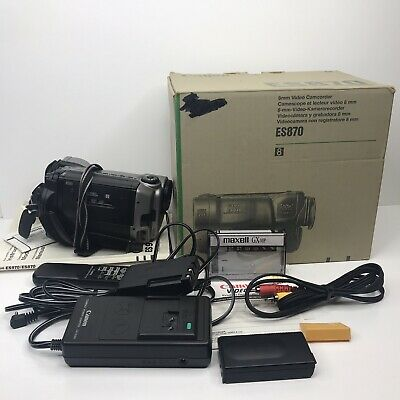 $ CDN161.09 • Buy Canon ES870 8mm Stereo Camcorder Camera VCR Player Video Transfer PLEASE READ!