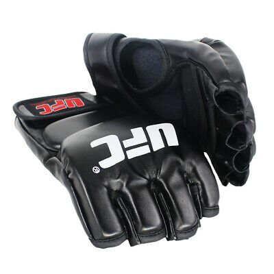 $ CDN0.16 • Buy MMA UFC Fighting Leather Boxing Gloves Muay Thai Training Sparring Gloves Black
