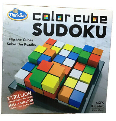 THINKFUN COLOR CUBE SUDOKU PUZZLE GAME-SINGLE PLAYER AGES 8+ Flip And Solve • 14.14£