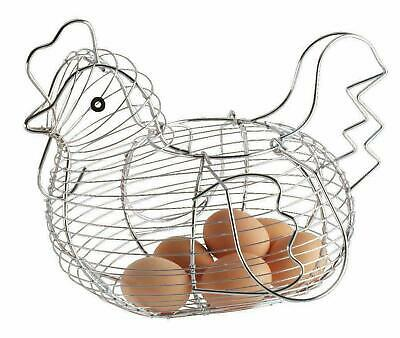 Chrome Wire Plated Egg Storage Chicken Egg Hen Basket Kitchen Holder Rack Apollo • 11.95£