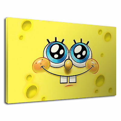 Kids Childrens Spongebob Squarepants Yellow Canvas Wall Art Picture Print • 36.99£