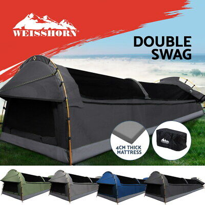 AU200.95 • Buy Weisshorn Double Swag Camping Swags Canvas Hiking Tent Deluxe Dome Kings Bag
