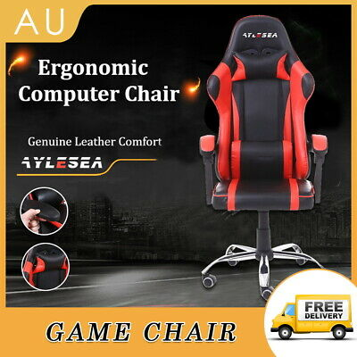 AU124.50 • Buy AYLESEA Gaming Office Chair Racing Executive Computer Seat PU Leather Backrest