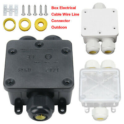 £6.99 • Buy 3 Way 24A Outdoor Electrical Cable Wire Connector  Waterproof Junction Box Case