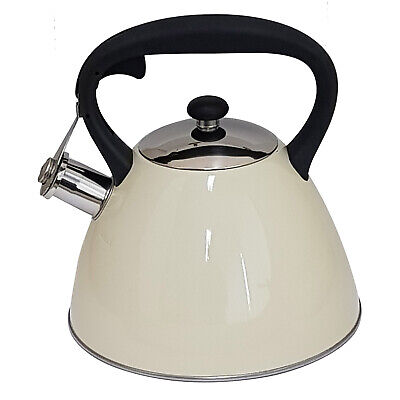 £15.28 • Buy Voche® 3.0l Metallic Cream Stainless Steel Whistling Kettle Gas & Electric Hobs