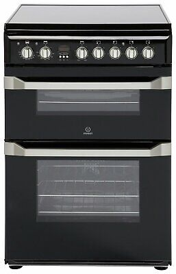 £359.99 • Buy Indesit ID60C2 Free Standing 60cm 4 Ceramic Hob Double Electric Cooker - Black