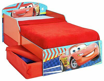 Disney Cars Firm Feel Fibre Core 2 Drawer Toddler Bed & Mattress • 180£