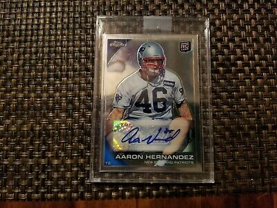 $41 • Buy Aaron Hernandez 2010 Topps Chrome Autographed Rookie Card