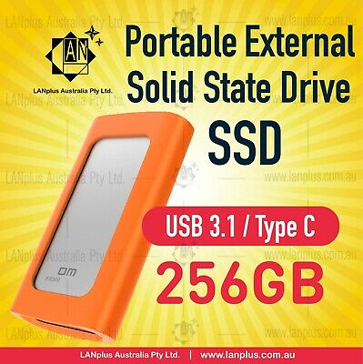 AU75.90 • Buy Portable 256GB External Solid State SSD Type-C USB 3.1 256GB SSD Hard Drive