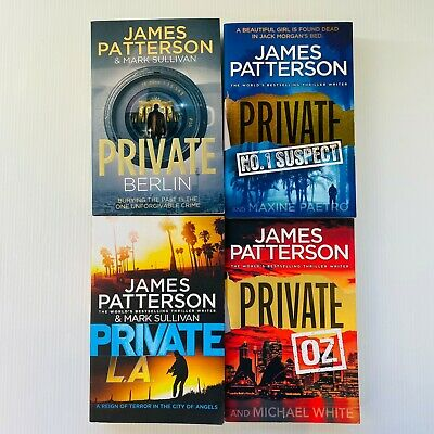 AU45 • Buy 4 X James Patterson Private Large Paperback Thriller Crime Books Free Post