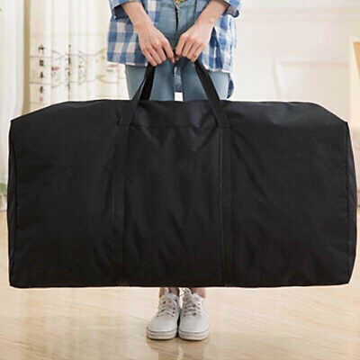 Home Extra Large Storage Bag Waterproof For Outdoor Camping Tent Cushion Black • 5.99£