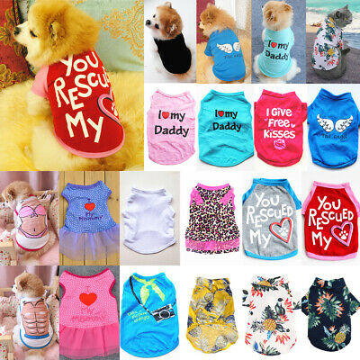 £5.34 • Buy Pet Dog Clothes Puppy T Shirt Clothing For Small Dogs Chihuahua Vest Apparel