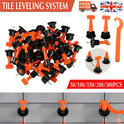 Tile Leveling System Kits Leveler Tile Spacer Wall Floor Tool Reusable 50-200pcs • 18.89£