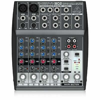 Behringer 802 XENYX Small Format Mixer, 8 Input 2 Bus Mixer | Free UK Delivery • 69£