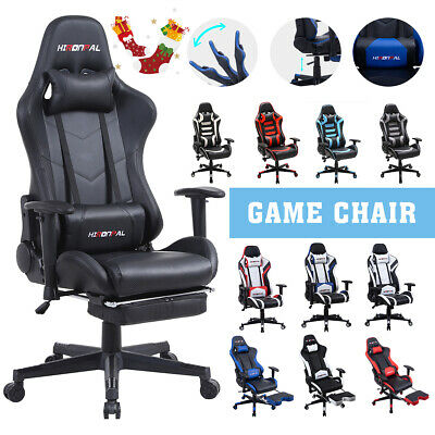 £84.99 • Buy Racing Gaming Chair For Adult Office Recliner Computer Desk Chair PU Lift Swivel