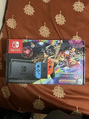 $ CDN650 • Buy Nintendo Switch With Blue And Red Joy-Con Controllers And Mario Kart 8 Bundle -