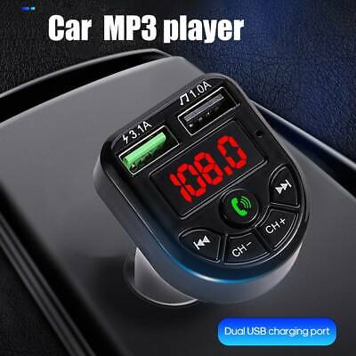 Car FM Transmitter Wireless Bluetooth 5.0 MP3 Player 2 USB Charger Handsfree Kit • 6.69£