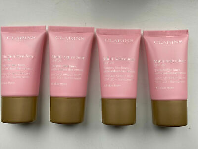 £21.99 • Buy Clarins Multi Active Jour Day Cream SPF20 60ml (FOIL SEALED) (15ml X4)