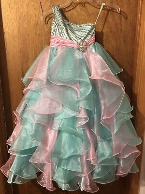 $115 • Buy Sugar By Mcduggal Girls Pageant Dress Size 2