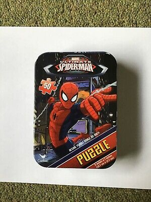 Marvel Spiderman Puzzle In A Tin 50 Pieces • 5.50£