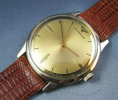 $ CDN328.95 • Buy Vintage Longines Wittnauer 10K Gold GF  Mens Lizard Band Dress Watch 17J 1960s