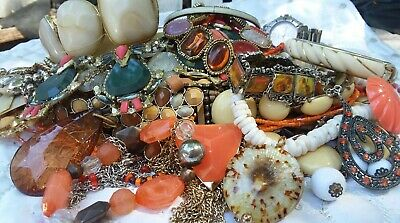 $ CDN11.04 • Buy Vintage Jewelry Lot Huge 3+ Lbs All Wearable Necklaces,Bracelets And More...