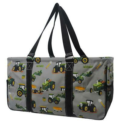 AU39.55 • Buy Canvas Classic XL All Purpose Open 23  Utility Tote Bag NGIL Tractor Farm Print