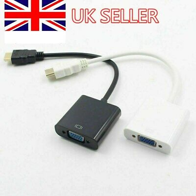 1080P HDMI Male To VGA Female Video Cable Cord Converter Adapter For PC Monitor • 2.69£