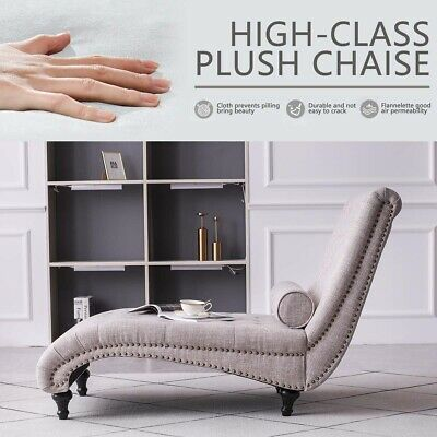 £189.99 • Buy Chaise Longue Sofa Day Bed Recliner Chair Single Window Seat End-Bed Bench Linen