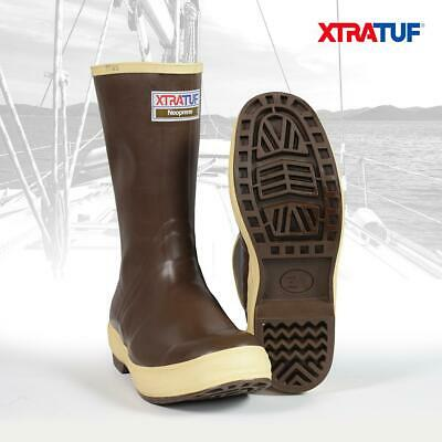 XTRATUF Men's 12  Legacy Camo & Brown Lined Deck Sailing Boating Boots (22834G) • 62.95£