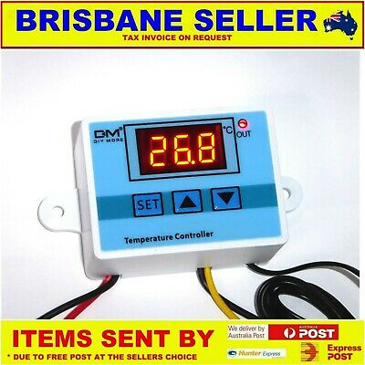AU25.99 • Buy 12v DIGITAL FRIDGE THERMOSTAT TEMPERATURE CONTROLLER 5A RELAY