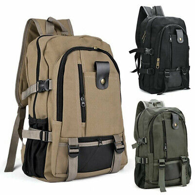 AU15.02 • Buy Accessories Travel Bags Male Luggage Men Canvas Backpack Double-Shoulder Bag