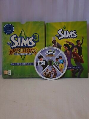 The Sims 3 Ambitions Commemorative Edition VGC  Complete PC  • 5£