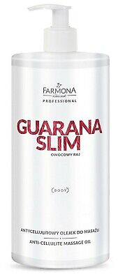 Farmona Professional GUARANA SLIM Anti-Cellulite Body Massage Oil 950ml • 17.79£