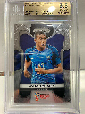 $ CDN137.17 • Buy Kylian Mbappe 2018 Panini Prizm World Cup Bgs 9.5 Gem Mint True Gem France