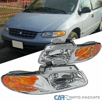 $38.95 • Buy Clear Headlights Fit 96-00 Caravan Town & Country Voyager Turn Signal Lamps Pair