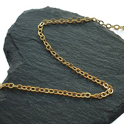 Gold Tone Plated Loose Oval Cable Dainty Jewellery Making Chain 1m 5m Metre • 2.49£