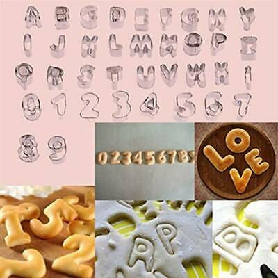 Alphabet Letters Number Cookie Cutters Sugarcraft Cake Decor Icing Mould L • 6.23£