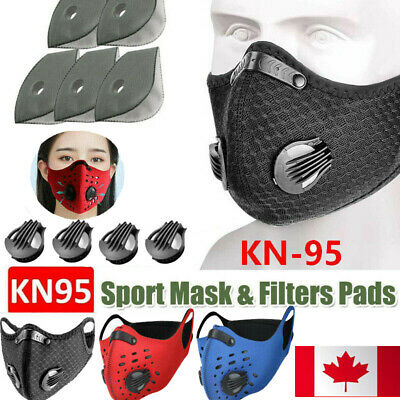 $ CDN20.50 • Buy Washable Sport Face Mask With Carbon Filters Air Purify Breathable Mouth-muffle