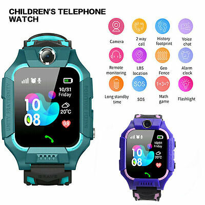 AU18.16 • Buy Waterproof Kids Smart Watch Anti-lost Safe GPS Tracker SOS Call For Android