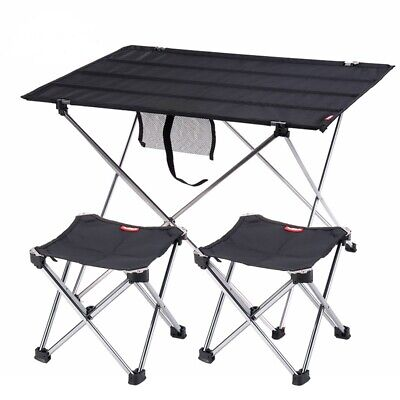Portable Folding Camping Picnic Table&Chair Aluminum Alloy Ultra Light Outdoor   • 41.84£