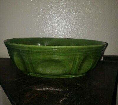 $14.99 • Buy HAEGER OVAL PLANTER  # 3929 DARK GREEN Art Pottery USA SERVING BOWL 10X7