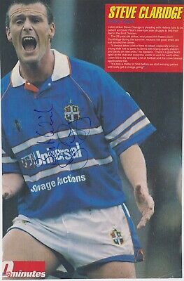 STEVE CLARIDGE (Luton Town & Portsmouth FC) Hand SIGNED A4 Poster Cutting • 5£