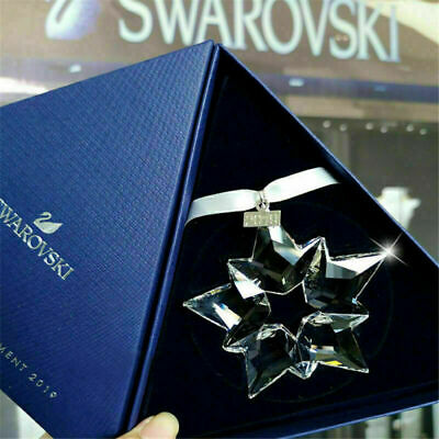 2019-Swarovski Crystal Snowflake ANNUAL EDITION LARGE CHRISTMAS ORNAMENT 5427990 • 27.99£