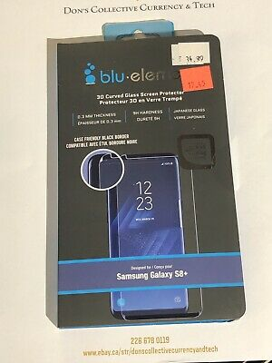 $ CDN17.45 • Buy Blu- Element 3D Curved Glass Screen Protector For Samsung Galaxy S8+ Plus