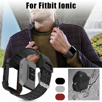 $ CDN12.11 • Buy Wristband Armor For Fitbit Ionic Rugged Wrist Band Protective Case Large Strap