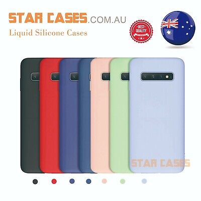 AU9.99 • Buy Samsung S21 20 Ultra Plus S10e S9 S8 Liquid Silicone Thin Soft Case Slim Cover