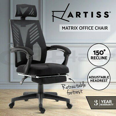 AU129.95 • Buy Artiss Gaming Office Chair Computer Desk Chair Home Work Recliner Black
